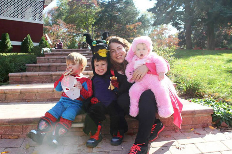 Campers and Family Dressed in Halloween Costumes at the West Hills Fall Festival